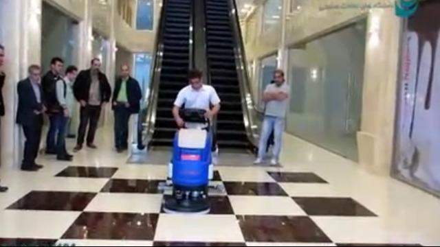 کارآیی بالای اسکرابر در نظافت مرکز خرید  - High performance scrubber at shopping malls