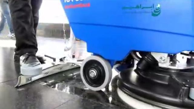 کاربرد اسکرابر کابلی در شستشوی کف مراکز تجاری  - cleaning the floor in commercial area by cable scrubber dryer