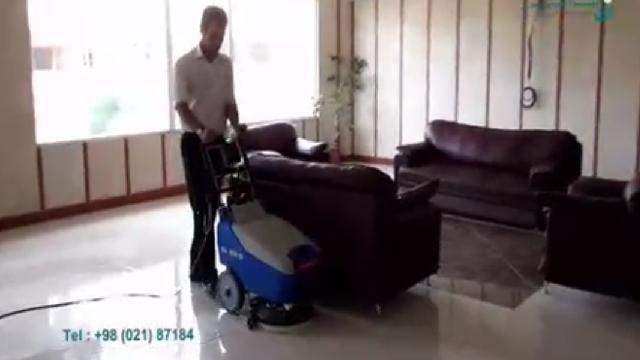 نظافت هتل با اسکرابر  - Hotel cleaning with scrubber