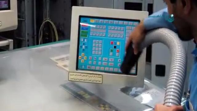 نظافت ماشین آلات الکتریکی با جاروبرقی صنعتی  - electrical machinery cleaning with vacuum cleaner
