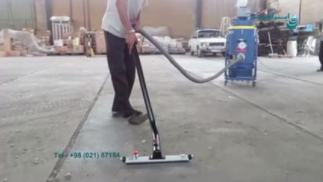 جمع آوری گرد و خاک فراوان با مکنده صنعتی  - collecting large amount of dust with vacuum cleaner