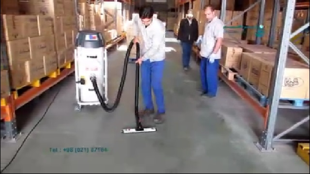 کاربرد جاروبرقی صنعتی در نظافت انبار  - Application of industrial vacuum cleaner in warehouse