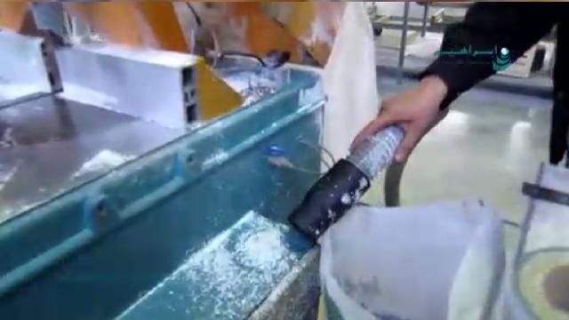 جمع آوری مواد پلیمری جاروبرقی صنعتی  - Polymer Collection with industrial vacuum cleaner