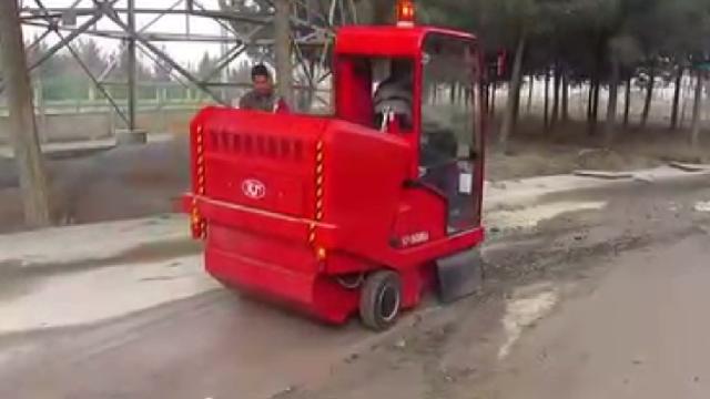 نظافت کارخانه سیمان با سوییپر  - Cement factory cleaning sweeper