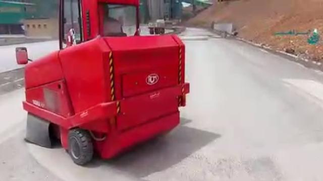 نظافت صنایع سیمان با سوییپر صنعتی  - Cement industry cleaning sweeper