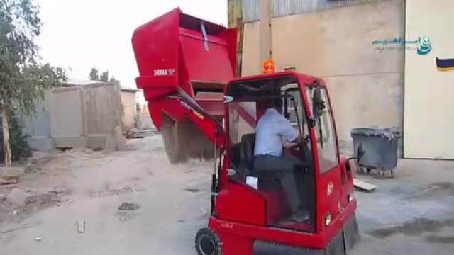 سوییپر صنعتی با تخلیه مخزن هیدرولیکی  - Hydraulic discharge sweeper