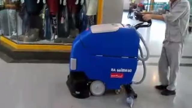 نظافت سطوح مرکز تجاری با اسکرابر  - Business center cleaning surface scrubber dryer