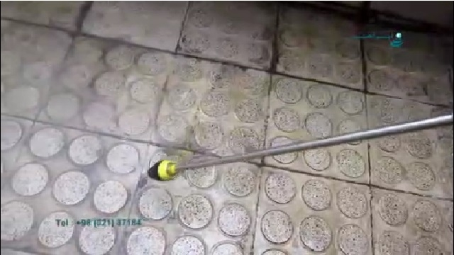 شستشو و نظافت حیاط با واترجت  - Washing and cleaning the yard with high pressure washer