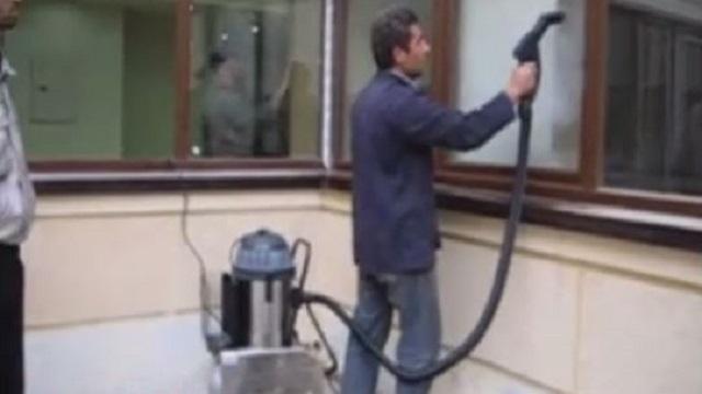از بین بردن آلودگی ها و لکه های شیشه با بخارشوی  - Removing dirt stains steam cleaner