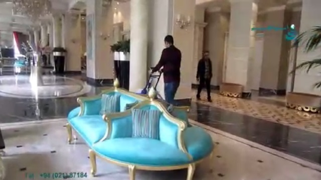 اسکرابر صنعتی و کاربرد آن در شستشوی لابی هتل  -  industrial scrubber dryer and its application in the hotel lobby