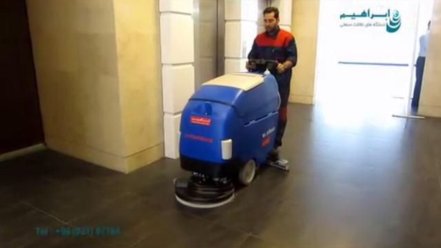 سهولت کاربری اسکرابر های مجهز به موتور حرکتی  - Ease of use scrubber equipped with motor