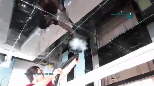 نظافت و شستشوی سطوح با بخارشوی  - Cleaning and washing of surfaces with steam cleaner