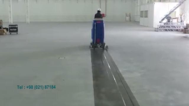حذف گرد و خاک سوله صنعتی با اسکرابر  - Remove dirt with a scrubber industrial sites