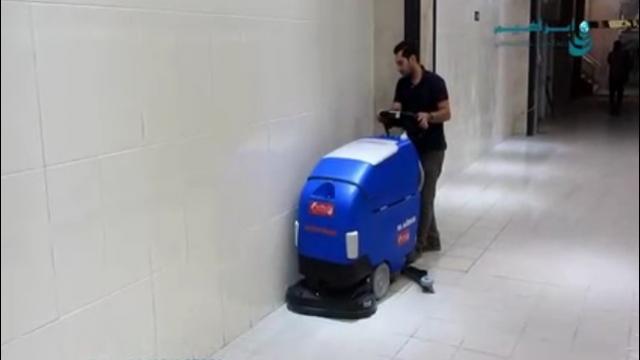 شستشو و آماده سازی سطوح با اسکرابر  - Washing and preparation of surfaces with scrubbers
