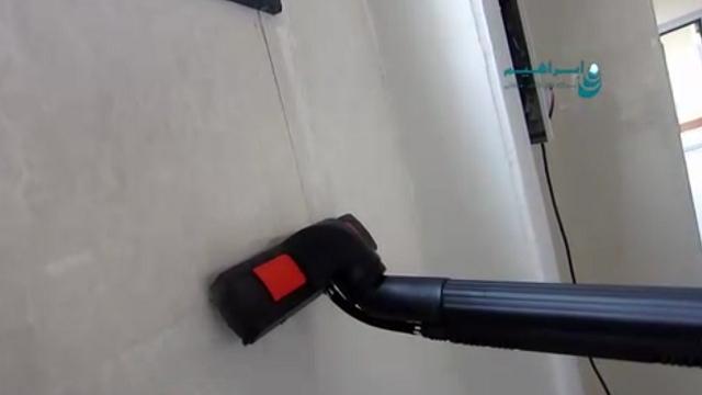 شستشوی دیوار با بخارشوی صنعتی  - Wash the walls with industrial steam cleaner