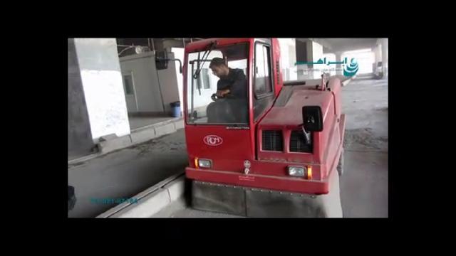 نظافت آلودگی شدید با سوییپر  - Severe pollution cleaning with sweeper