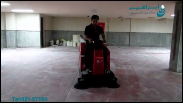 نظافت محیط ساختمانی با سوییپر صنعتی  - cleaning area with sweeper