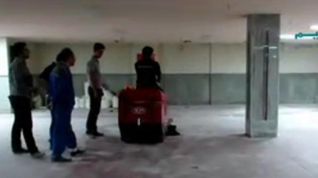 نظافت با سوییپر  - cleaning with sweeper