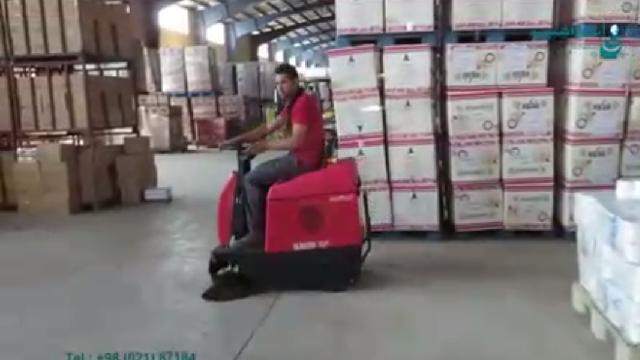 نظافت سریع و آسان انبار با سوییپر  - Quick and easy cleaning warehouse with sweeper