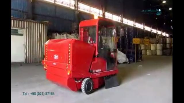نظافت محیط های صنعتی با استفاده از سوییپر صنعتی دیزلی  -  cleaning industrial environments using diesel Industrial sweepe