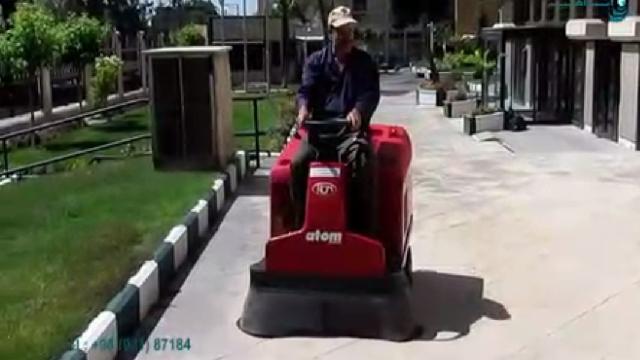 نظافت محوطه پارک با سوییپر  - park cleaning with sweeper