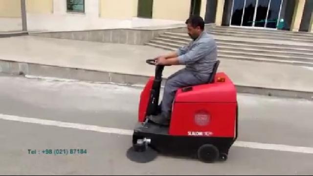 نظافت سطوح فضای بیرونی با سوییپر  - Cleaning outer surfaces with sweeper