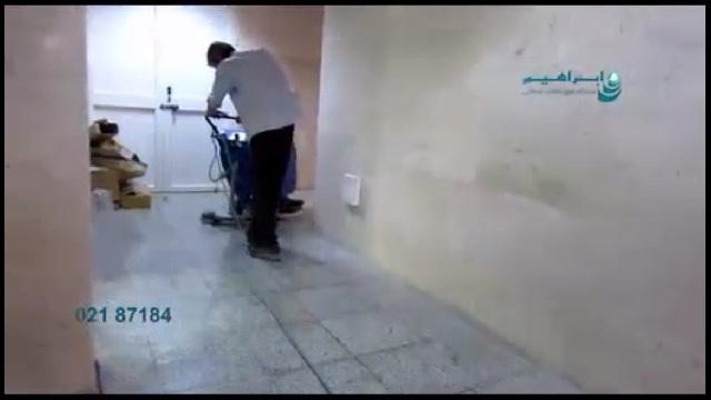 نظافت راهروهای کم عرض با اسکرابر  - cleaning narrow hallway with scubber