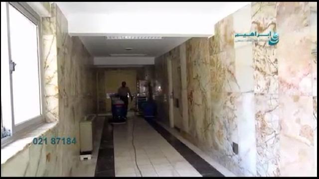 استفاده از اسکرابر صنعتی در راهروهای باریک  - using scrubber in narrow way