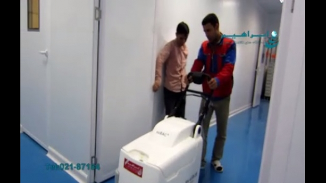 استفاده از اسکرابر آنتی باکتریال جهت نظافت محیط بیمارستان  - use of antibacterial cleaning scrubber for  hospital environment