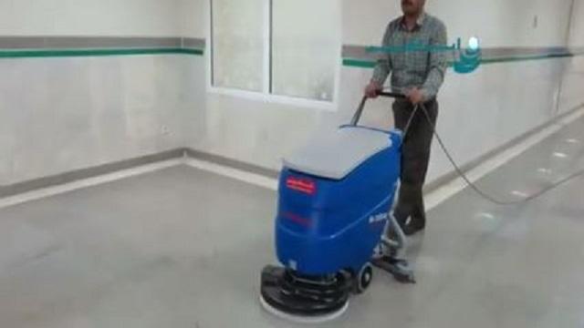 سرعت و دقت در نظافت بیمارستان با اسکرابر  - Speed accuracy hospital cleaning scrubber