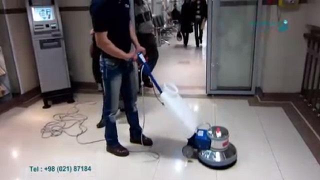 شستشو و جلادهی سطح بوسیله پولیشر  - washing and Polishing surfaces by polisher