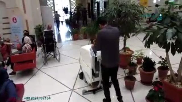 کفشوی آنتی باکتریال جهت شستشو و ضدعفونی بیمارستان  - use a anti-bacterial scrubber for cleaning the floor in hospital