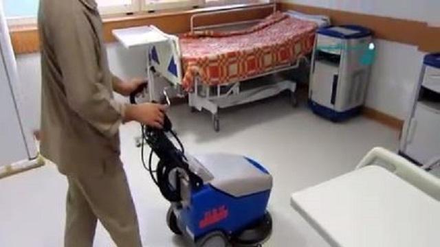 اسکرابر دستی کوچک مناسب برای نظافت اتاق های بیمارستان  - Small handy scrubber suitable cleaning hospital rooms