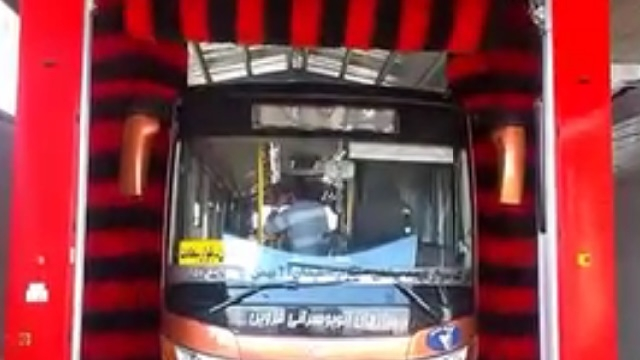 شستشوی اتوبوس با استفاده از کارواش اتوماتیک خودرو های سنگین  - Wash Bus by Automatic Rollover Heavy Wash