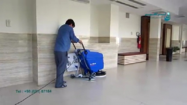کاربرد اسکرابر در شستشوی کف پوش ها در اماکن اداری  - Application of scrubber in floor washing at office sites