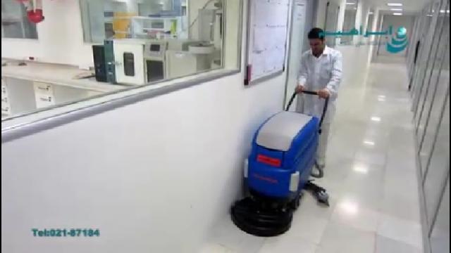 کاربرد اسکرابر در نظافت معابر باریک  - Scrubber application in narrow passage cleaning
