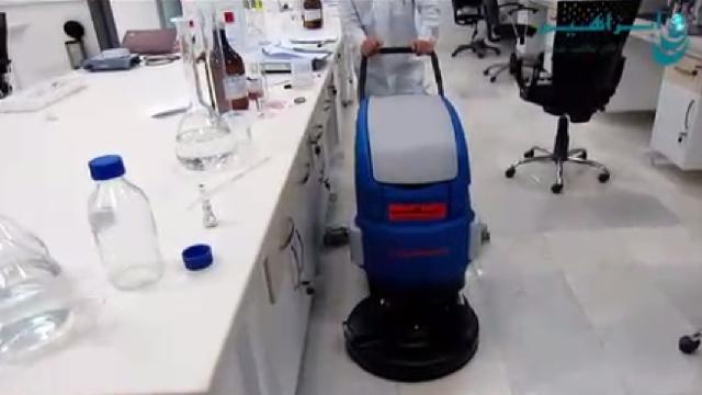 بهداشت و تمیزی آزمایشگاه با اسکرابر  - Hygiene laboratory with scrubber