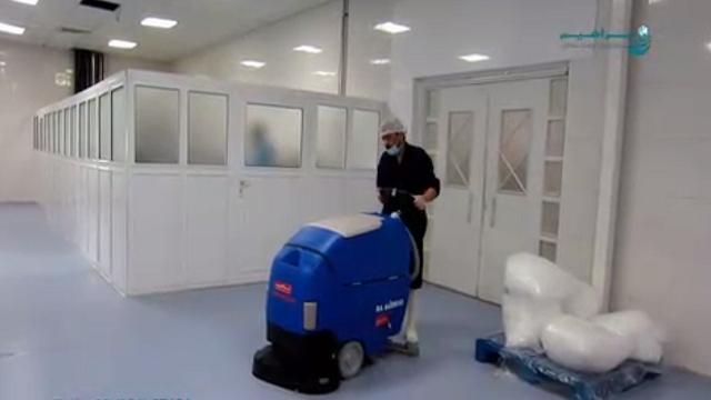 افزایش سرعت نظافت با اسکرابر مجهز به موتور حرکتی  - title 949