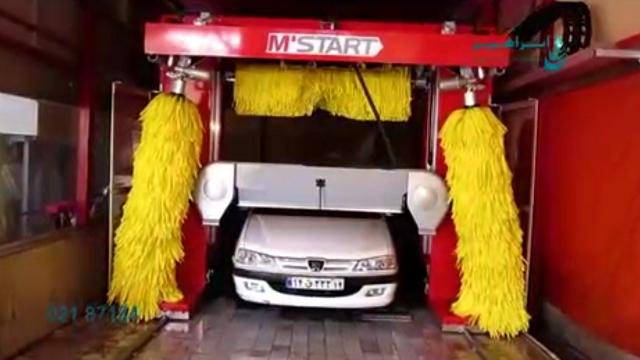 اتمام شستشوی خودرو با سیستم خشک کن کارواش اتوماتیک  - finish car washing with drying system