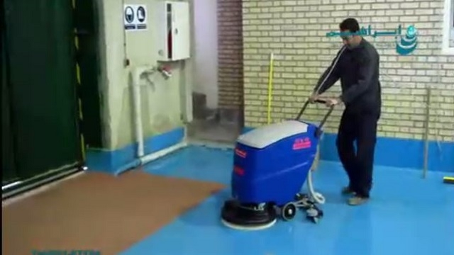 کفشوی برقی و کاربرد آن در شستشوی کف انبار  - cable scrubber dryer and its use in washing the floor of the warehouse