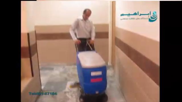 شستشوی سطوح گرانیتی با دستگاه اسکرابر  - Washing granite surfaces with a scrubber