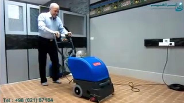 شستشوی فرش نمازخانه با دستگاه فرش و موکت شوی  - cleaning the carpet of chapel by carpet cleaner