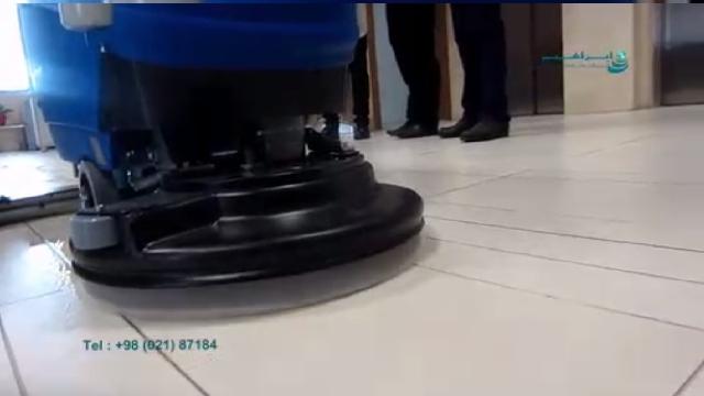 شستشوی سطوح متخلخل با دستگاه اسکرابر  - cleaning porous surfaces with scrubber