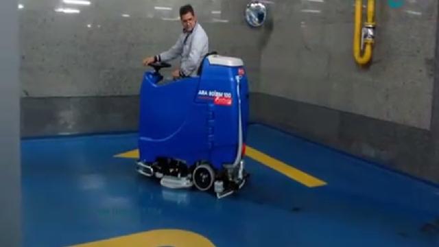 شستشوی پارکینگ شیب دار با اسکرابر  - Washing ramp parking with scrubber