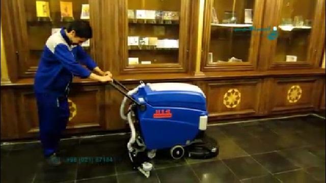 فرآیند شستشوی سطوح کف با اسکرابر  - floor cleaning process by scrubber